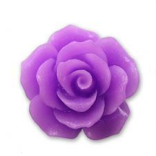18mm Purple Resin Rose Bloom Cabochon